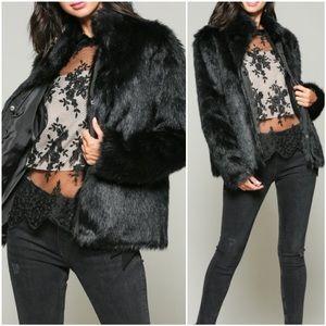 🆕Vita | Luxe Faux Fur Coat | Black